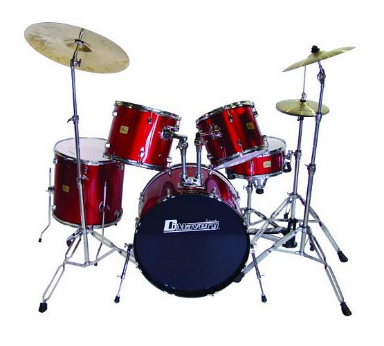 DIMAVERY Drum-Set DS-205 5pcs. Metal win, discoland.fi