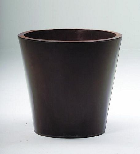 DECO Flowerpot zinc brown o height 55cm, discoland.fi
