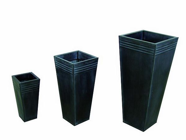 DECO Tin vase set grey height 80+60+40cm, discoland.fi