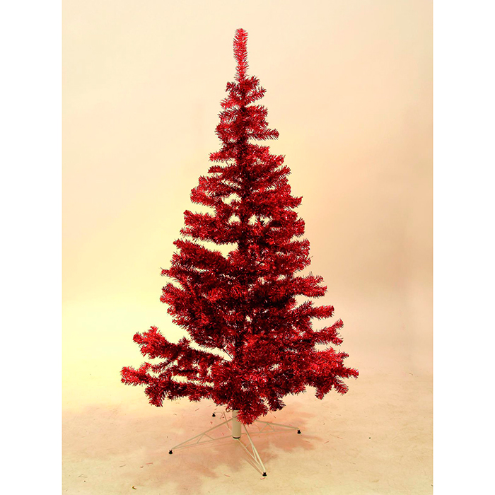 EUROPALMS 180cm Klassinen kuusi, muotivärissä punainen, sisältää kuusen jalan. Fir tree, red. Classic fir tree in trendy color, include base