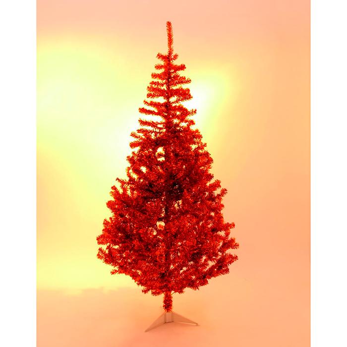 EUROPALMS 240cm Klassinen kuusi, muotivärissä oranssi, sisältää kuusen jalan. Fir tree, orange. Classic fir tree in trendy color, include base