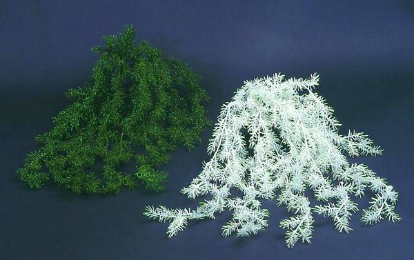DECO Glittering bush, white, voluminous