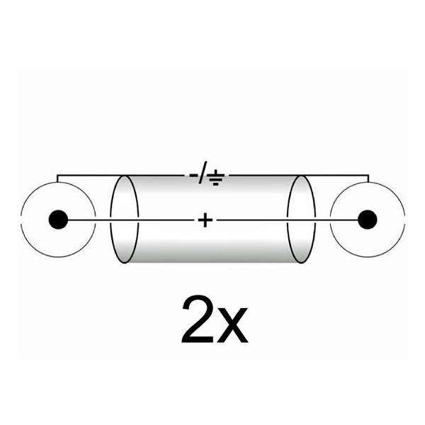 OMNITRONIC RCA-kaapeli 0,9m, 2 x 2 RCA-liittimet. Ammattimallin High End signaalikaapeli kovaan käyttöön. Vahvaa kaapelia laadukkailla liittimillä. CC-09