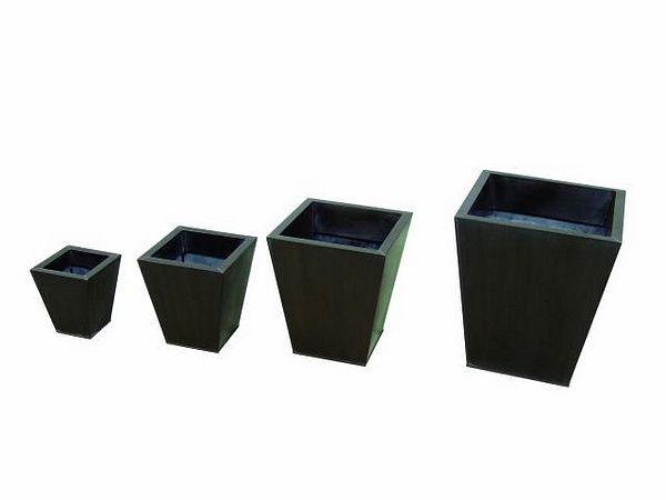 DECO Tin flowerpot set brown 55/45/35/25, discoland.fi
