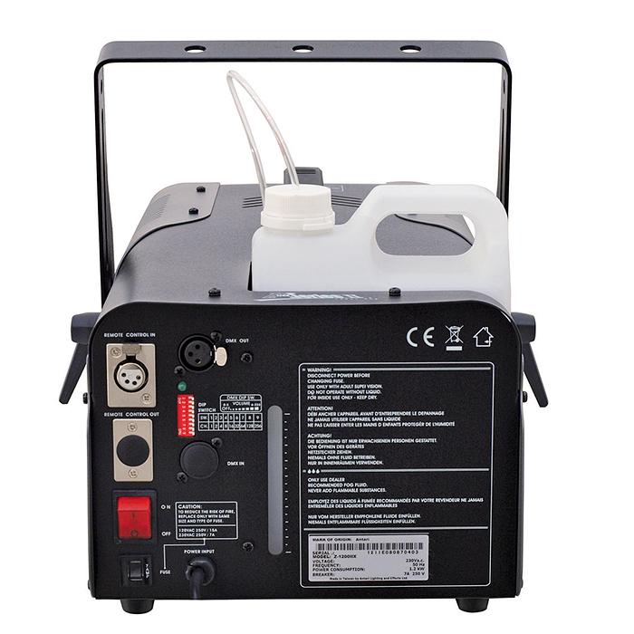 ANTARI Z-1200II Tehokas savukone 1200W lämmittimellä, jatkuva savun tuotto, katso video! Mukana ajastinohjain sekä DMX-liitäntä. Savun ulostulo jopa 12 metriä! Mitat 440 x 250 x 180 mm sekä paino 11kg. Tankin koko 2,5 litraa, savun tuotto noin 500 m³/minuutissa. Powerful smoke-machine 1200W with DMX-Controller.