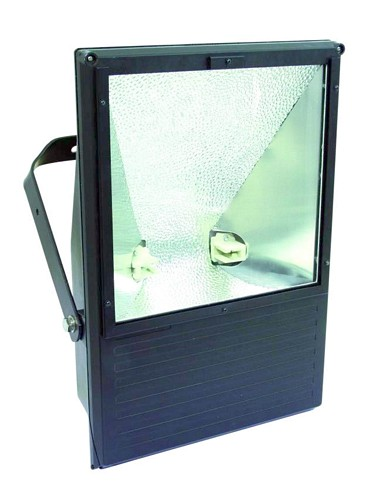 EUROLITE Ulkovalaisin WFL tehokaalle 250W kaasupurkauslampulle IP65. Outdoor Spot 250W WFL black IP65, For bright 250W discharge lamp