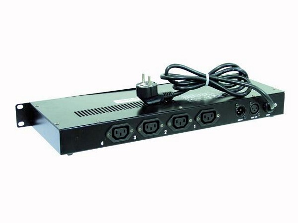 EUROLITE DPX-405 DMX Dimmer Pack 4-channel x 1150W, Max. output 3680W, 16 built-in programs, IEC sockets
