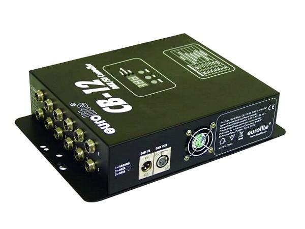 EUROLITE LED CB-12/50 DMX controller for EUROLITE LED Ball, täällä ohjaimella voit ohjata 50cm halkaisijaltaan olevia Eurolite led palloja.