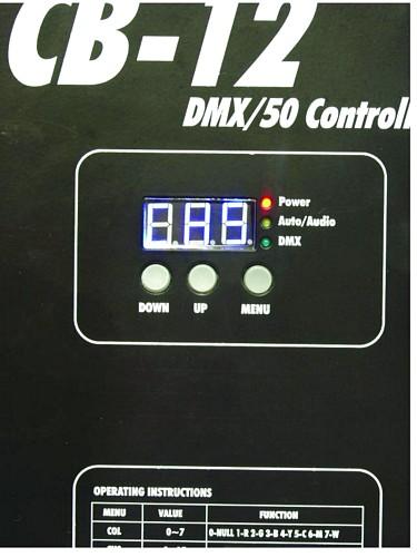 EUROLITE LED CB-12/50 DMX-ohjain EUROLITE LED Ball:lle, ohjaimella voi ohjata 50cm halkaisijaltaan olevia Eurolite LED-palloja, IP66
