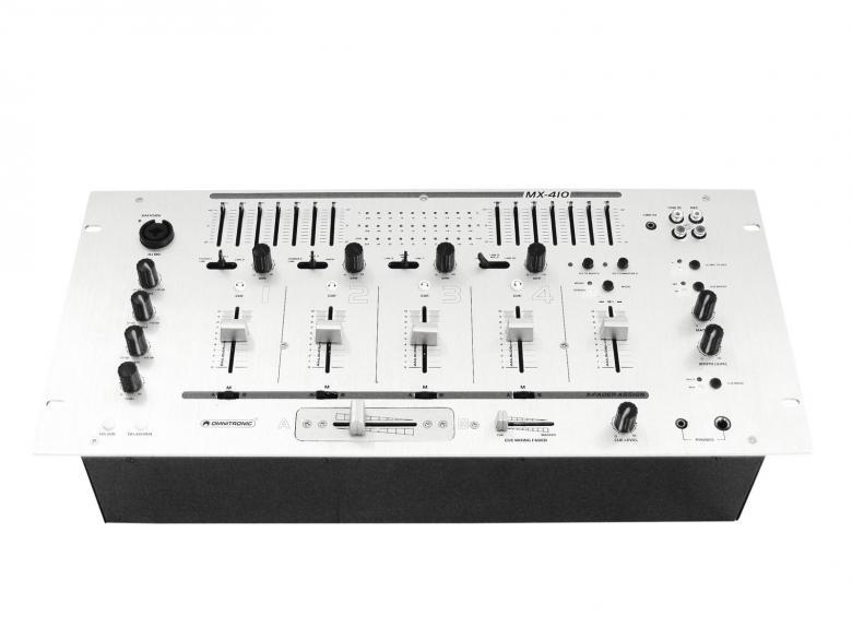 POISTO Omnitronic MX-410 DJ Mikseri laadukas Räkkikokoinen 19