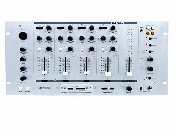 OMNITRONIC MX-420 DJ Mikseri, Professional 4+1-channel mixer