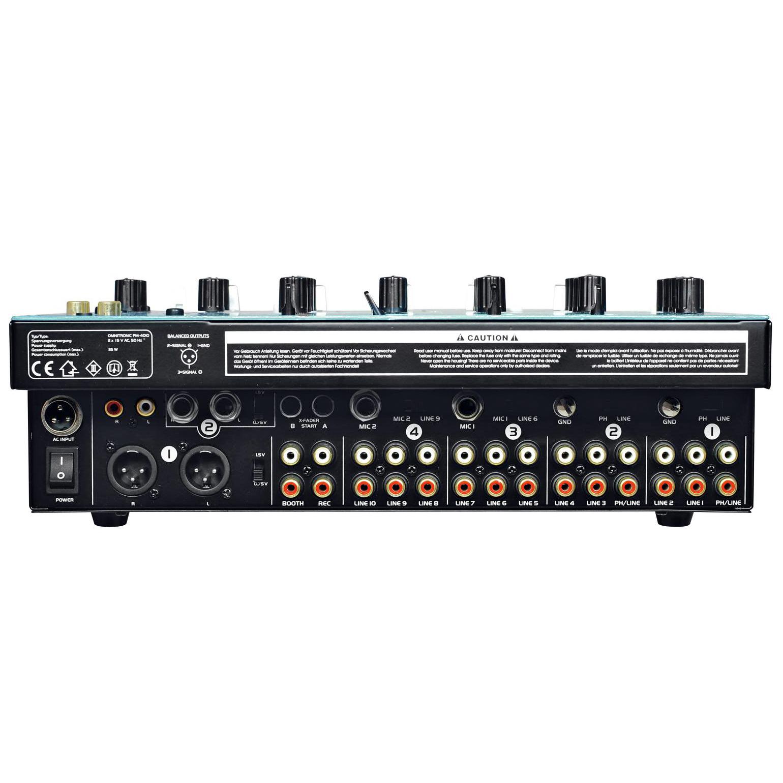 OMNITRONIC <b>B-STOCK!Poisto!</b> PM-4010 Pro DJ-Mixeri Huippulaatua. Neljäkanavainen DJ mikseri Loistavilla ominaisuuksilla. Omnitronic mikserissä on balansoidut XLR ulostulot, 10kpl line sisäänmenoja,  2kpl levysoitin sisäänmenoja. Mitat ovat kompaktit 320 x 320 x 110 mm sekä paino 5,4kg.