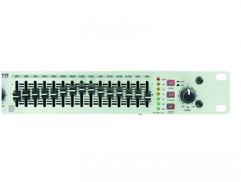 OMNITRONIC GEQ-215 Equalizer 2x 15-band 19