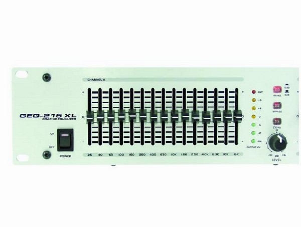 OMNITRONIC GEQ-215 XL equalizer 2x 15-band 19