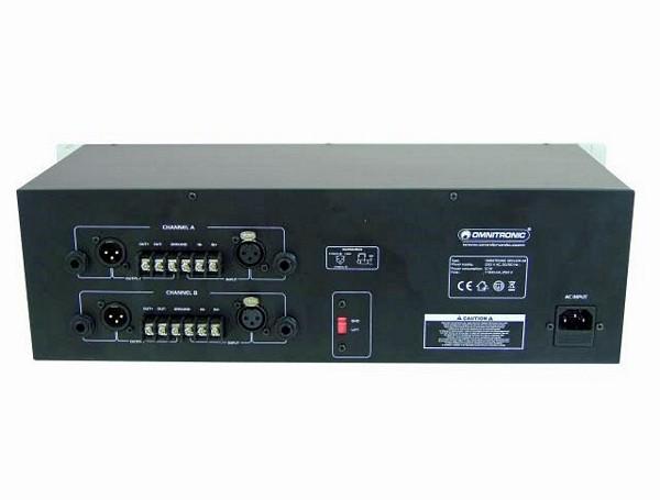 OMNITRONIC GEQ-231, 2x31 alueinen EQ, Limitterillä, LM Equalizer Limiter 2x 31-band 19