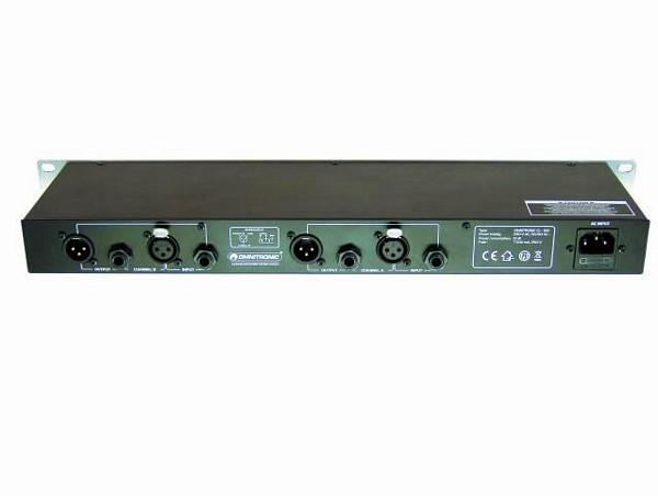 OMNITRONIC CL-266 Kompressori-Limitteri-Gate. laadukas räkkikokoinen prosessori. Compressor-Limiter-Gate