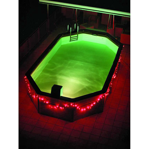 EUROLITE LED garland 230V with 80 red LEDs 22m, Light chain 12m + Feed line 10 m, Exclusive LED light chain for stylish deco-effects!