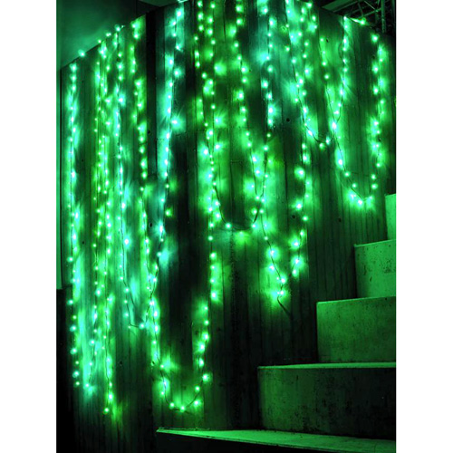 EUROLITE LED garland 230V with 80 green LEDs 22m, Light chain 12m + Feed line 10 m, Exclusive LED light chain for stylish deco-effects!