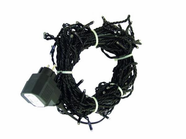 EUROLITE LED garland 230V with 80 yellow LEDs 22m, Light chain 12m + Feed line 10 m, Exclusive LED light chain for stylish deco-effects!