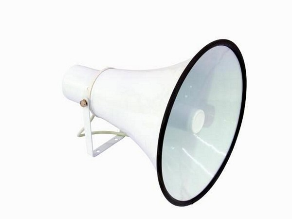 OMNITRONIC HR-15 PA Torvikaiutin 15W Ulko sekä sisä kuulutuskäyttöön, horn speaker 15W, 100V!Mitat 205 x 268 mm sekä paino 1,5kg.