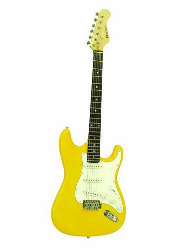 DIMAVERY ST-203 E-Guitar, yellow, discoland.fi