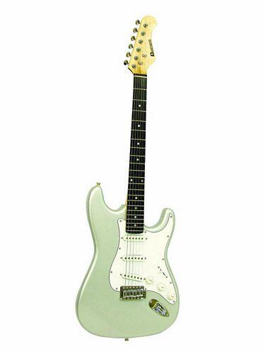 DIMAVERY ST-203 E-Guitar, silver, discoland.fi
