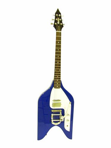 DIMAVERY RK-110 E-Guitar Rocket, blue