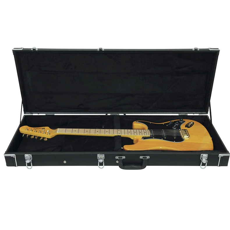 DIMAVERY Kitaralaukku. Universal Hard-Case for Electric Guitar, right-angle