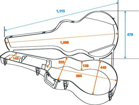 DIMAVERY ABS Hard-Case for Jumbo Acoustic Guitar