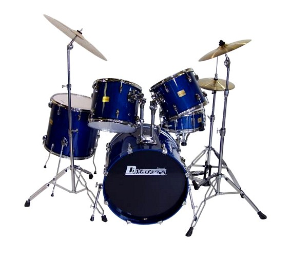 DIMAVERY Drum Set DS-405 5pcs, maple