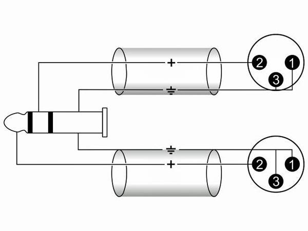 OMNITRONIC Mini Plugi-XLR-adapterikaapeli 3m, Jack Plug 3,5mm stereo - 2 x XLR-uros, väri musta. AC40-30