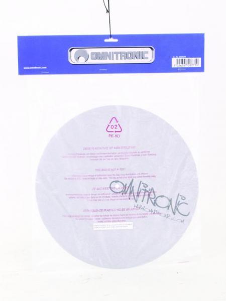 OMNITRONIC DJ Levymatto, Hopean värinen mustalla printillä, erittäin laadukas. Kova ja erittäin helposti luistava matto.  slipmat, silver w. black print