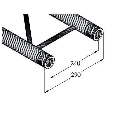 ALUTRUSS BILOCK trussi BQ2-5000. Straight 2-point truss 5000mm