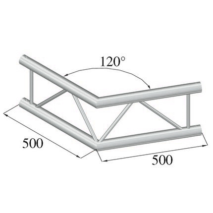 ALUTRUSS BILOCK  2-tie kulmapala 120° BQ2-PAC22V. 2-way corner piece