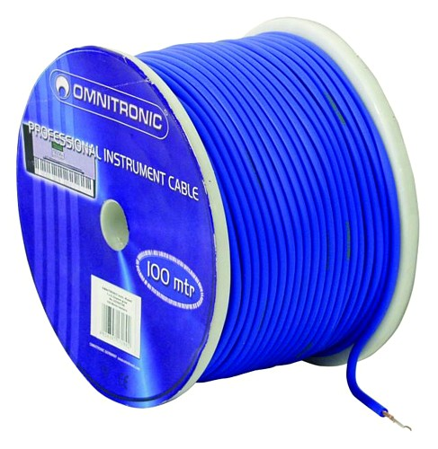 OMNITRONIC Instr.cable 0.22mm² blue/ 100m