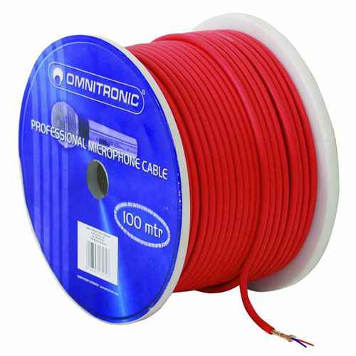 OMNITRONIC Micro cable 0.22mm² red/ 100m