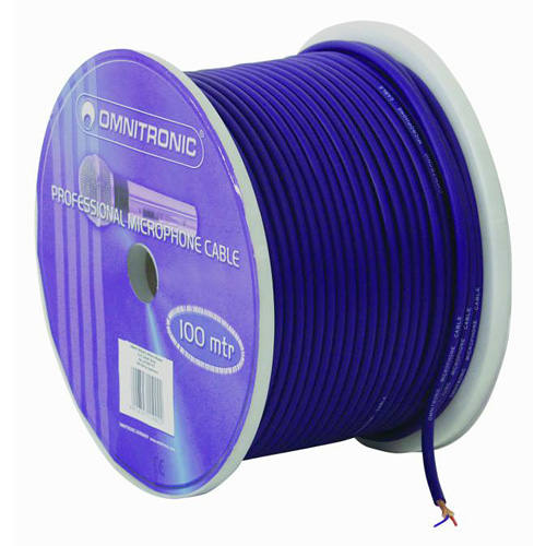 OMNITRONIC Micro cable 0.22mm² blue / 100m