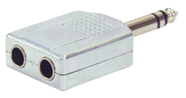OMNITRONIC Adapter jack plug stereo/ 2 j, discoland.fi