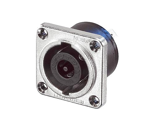 NEUTRIK NLT8MP, STX 8-pole male chassis connector, Nickel housing, solder or ¼