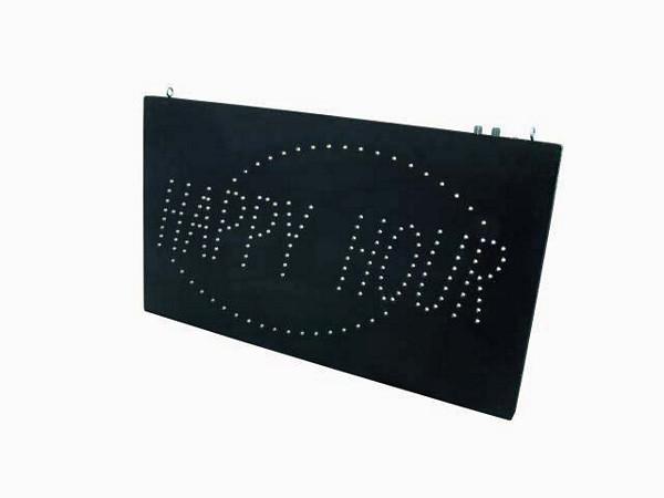 EUROLITE Loppu!!LED HAPPY HOUR sign, strobe & dimmable, LEDs 131, Huh.. voiko olla vielä näkyvämpi, erittäin kirkas!!