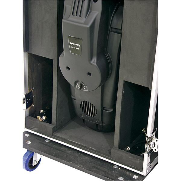 OMNITRONIC Kuljetuslaatikko kahdelle Moving Headille, pyörillä. Flightcase for PHS-1200, with castors