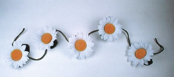 EUROPALMS 180cm Sunflower garland white blossom