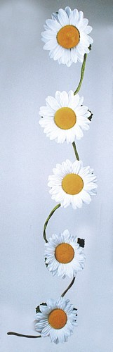EUROPALMS 180cm Sunflower garland white , discoland.fi