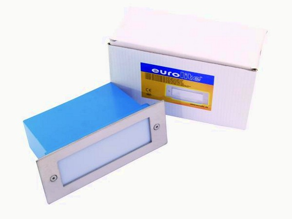 EUROLITE LED recessed light 16 blue LEDs, milky, IP 54