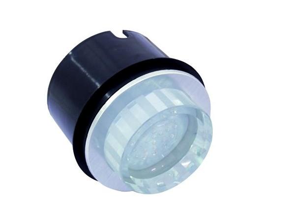 EUROLITE LED recessed light 25 red LEDs, clear, IP54