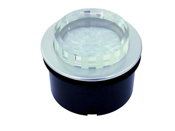 EUROLITE LED recessed light 40 green LEDs, clear, IP54