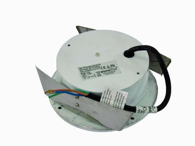 EUROLITE LED recessed light 48 LEDs, clear, FC=Fading Colors, IP54, Hitaasti vaihtuvat värit