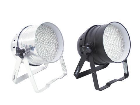 EUROLITE LED PAR-64 RGB Spotti DMX ohjattava LED par-heitin 5-kanavaa, RGB multi värit 183x10mm LED. Värit miksattavissa, Automatiikalla voi säätää värien feidaus aikaa, Sisäänrakennettu mikrofoni, Master ja slave toiminne yhdenmukaiseen vaihtoon! Aukeamiskulma noin 10°.  Mitat 280 x 265 x 320 mm sekä paino 1,5kg.