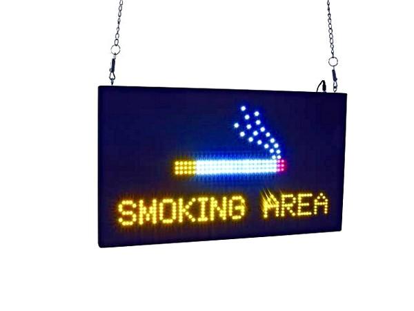 EUROLITE Tupakointi alue led kyltti engl, discoland.fi