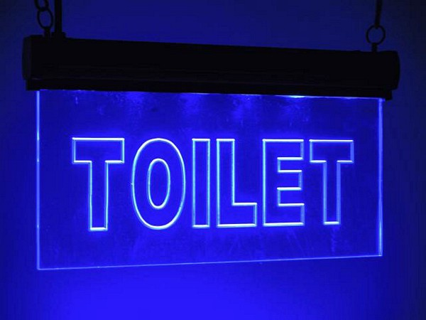 EUROLITE LED Kyltti Toilet, Sininen, Sign